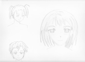 How To Draw Cartoons & Manga - Progression Sketch