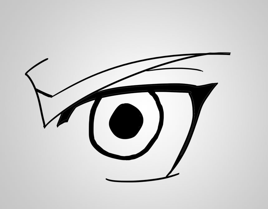 Line Drawing Eye : Drawing anime eyes part the eye of edward elric