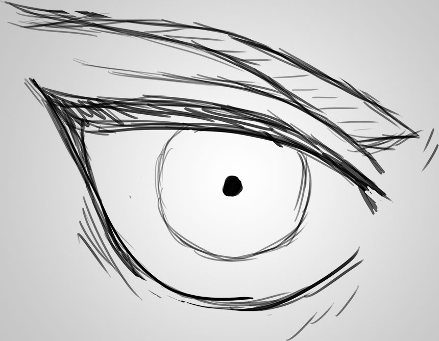 how to draw anime right eye