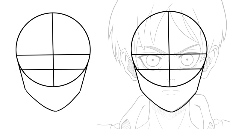 How-To-Draw-Eren-Face-Construction