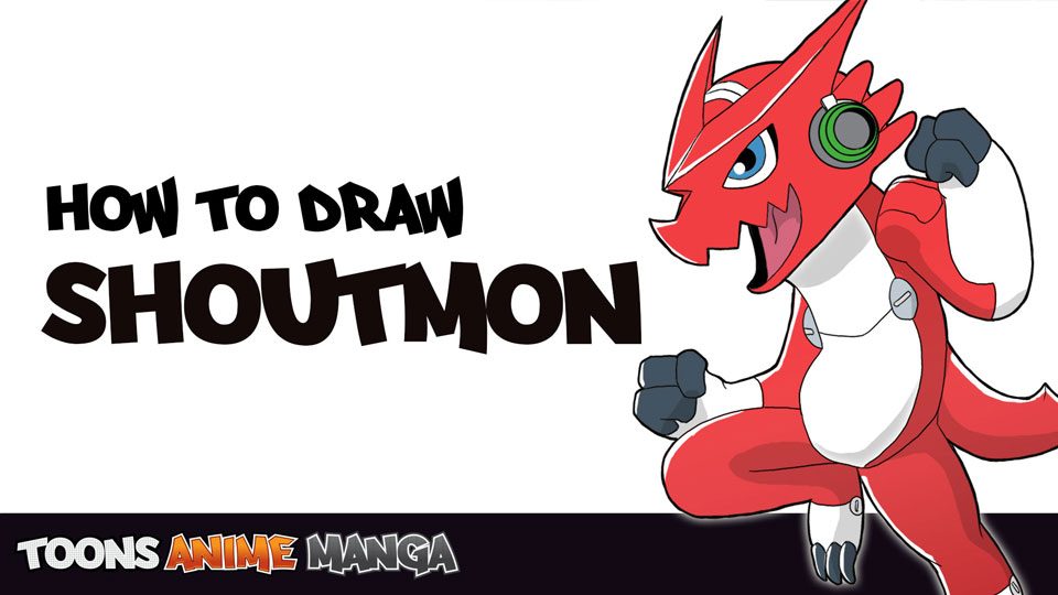 how-to-draw-shoutmon-digimon-fusion