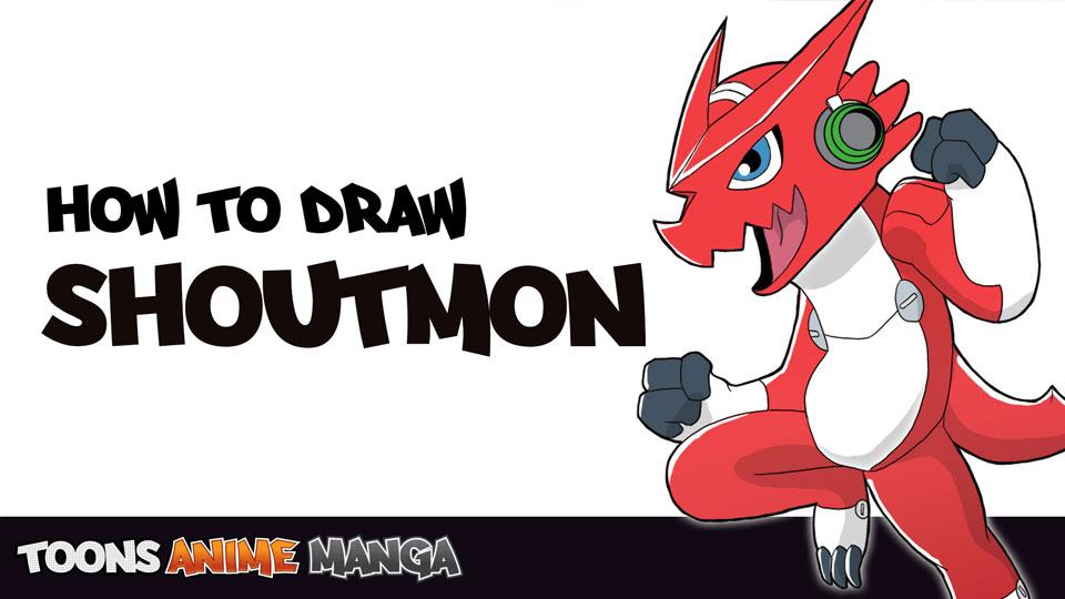 how-to-draw-shoutmon-digimon-fusion